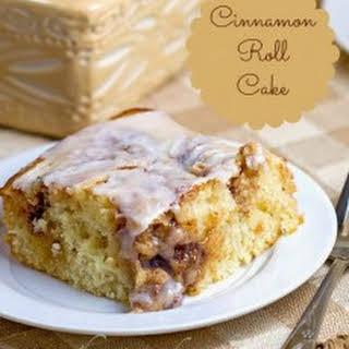 Cinnamon Roll Cake.