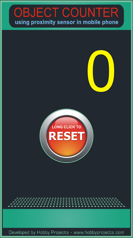 Object Counter Using Proximity Sensor of Mobile- screenshot