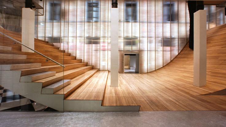 """Rem Koolhaas' """"Wave"""" in Soho. Photo: Prada."""