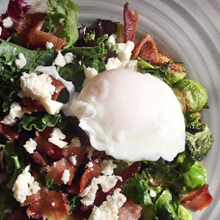 Roasted Bacon, Brussel Sprout, and Feta Salad with Dill Dressing