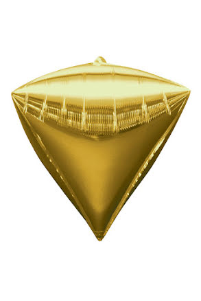 Folieballong Diamant, guld