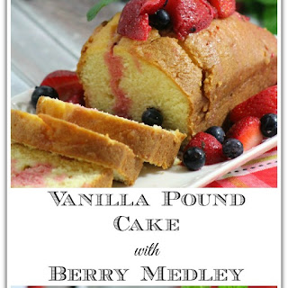 Vanilla Pound Cake with Berry Medley Recipe