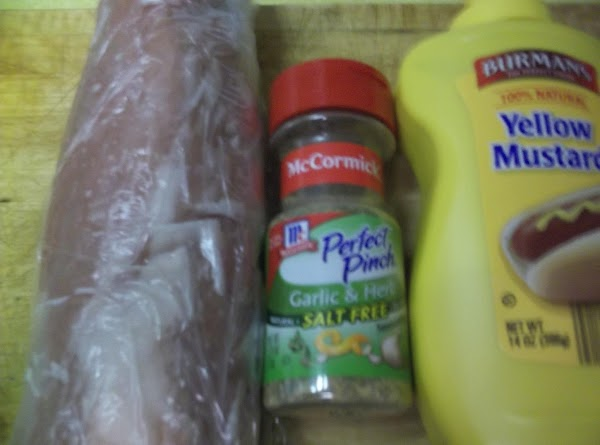 Wash tenderloin and pat dry. Rub well with mustard. Sprinkle generously with McCormick Perfect...