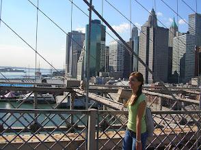 Photo: Maria on the Brooklyn Bridge