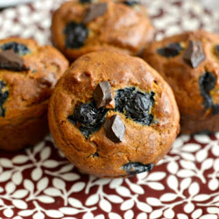 Pumpkin Blueberry Cashew Chocolate Chip Muffins
