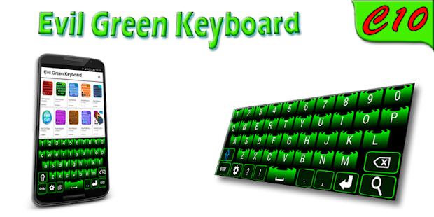 Evil Green Keyboard - náhled