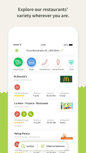 Mjam.at - Online food delivery  screenshots 2