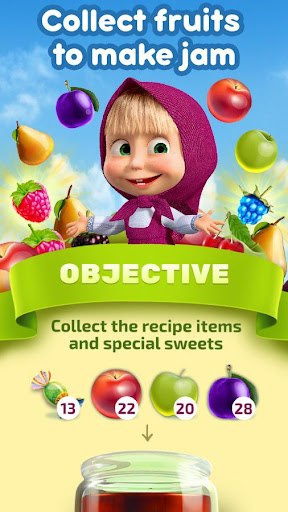 Masha and The Bear Jam Day Match 3 games for kids 1.4.47 screenshots 5