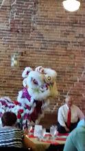 Photo: Lion dance in a wedding