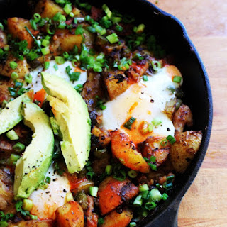 Smoky Potato, Onion and Pepper Skillet with Chicken Sausage