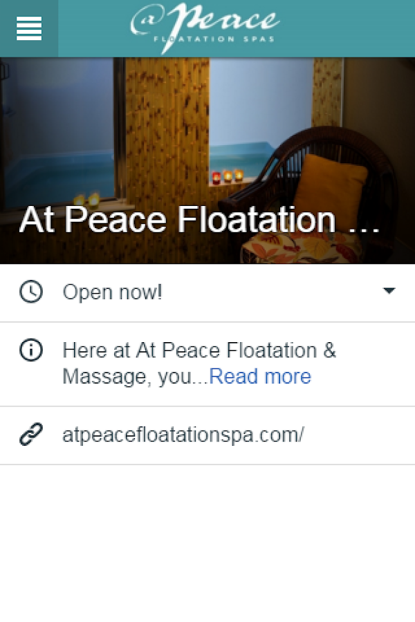 At Peace Floatation & Massage- screenshot
