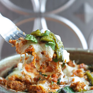 Cheesy Chorizo Stuffed Roasted Poblanos