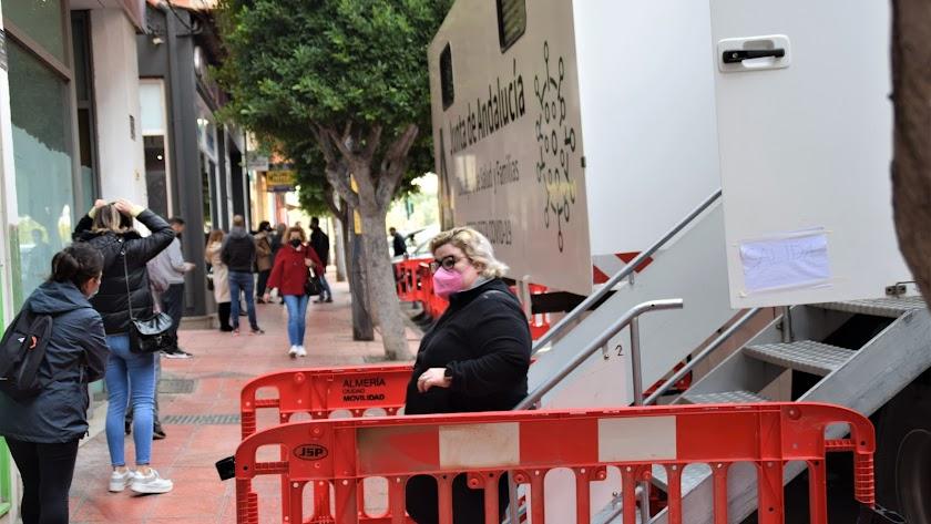 Unidad móvil de cribados, el pasado viernes en Almería.