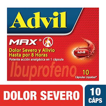 ADVIL MAX TABLETAS CAJA   X10TAB. PFIZER IBUPROFENO