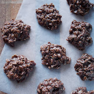 Chocolate Peanut Butter No Bake Cookies.