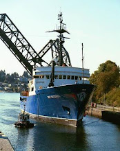 Photo: The Seattle Ship Canal, birthing a tug!