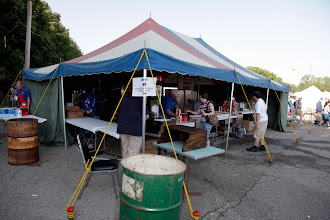 Photo: One of the food tents in the outdoor flea market.  You can get donuts, hamburgers, hot dogs, brats, soft drinks, and other items.