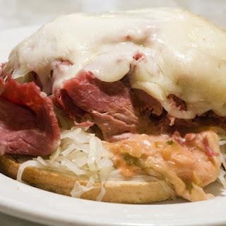 Open Faced Reuben Sandwiches