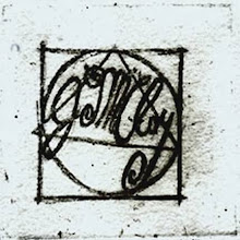"""Photo: An etching of my trade mark, I use this mark in a signature form on my art work. It is my """"brand name"""". It has been registered with the state of WA, in 2001 with my business. It also has been submitted to the US Copyright office in 1999 with a screen play for a feature film."""