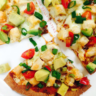 Extra Crispy Tortilla Pizza w. Grilled Chicken