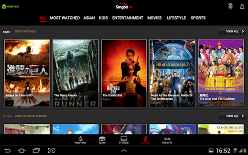 Singtel TV GO- screenshot thumbnail