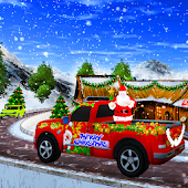 Christmas Santa Gift Delivery Truck Driving Game