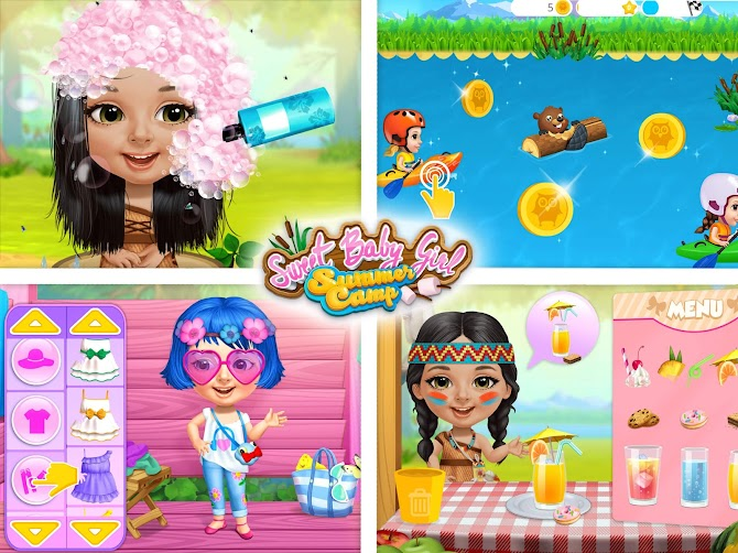 Sweet Baby Girl Summer Camp - Kids Camping Club Android 11