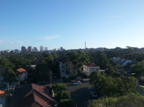 Photo: Looking towards work from my apartment