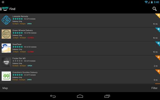 Weedmaps Marijuana Cannabis Weed Reviews Aplikacije (APK) brezplačno prenesete za Android/PC/Windows screenshot