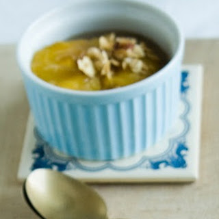 Peaches Poached in Spiced Coconut Milk.