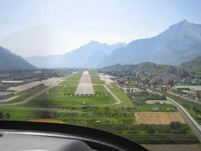 Photo: Final before landing in Sion http://www.swiss-flight.net
