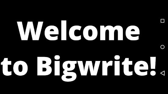 BigWrite - náhled