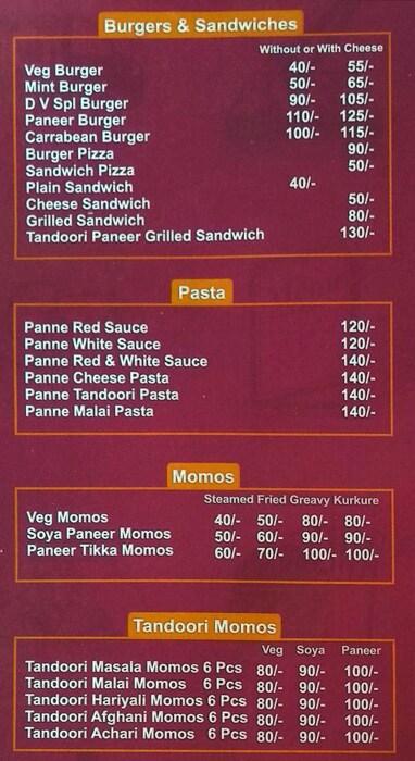 Desi Videshi menu 4