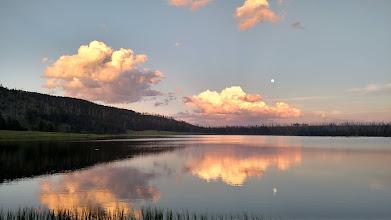 Photo: sunset at Grebe lake