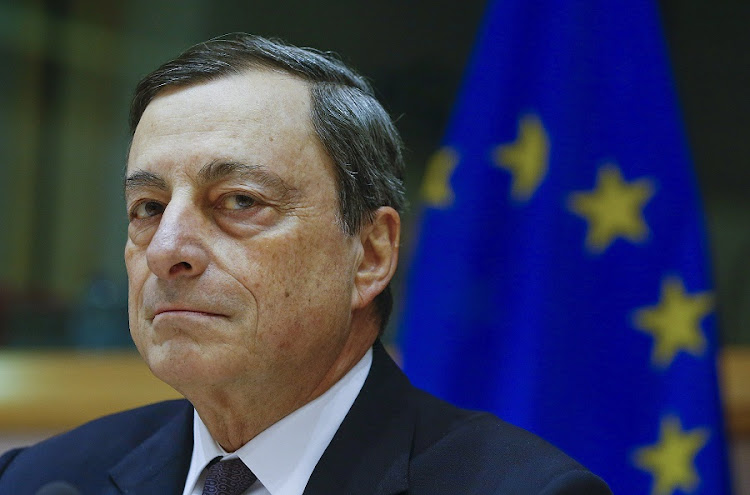 European Central Bank president Mario Draghi. Picture: REUTERS/YVES HERMAN