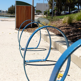 bicycle stands at port coogee  by Eldon Pillai - Novices Only Objects & Still Life ( #coogee #bicyclestand #park )