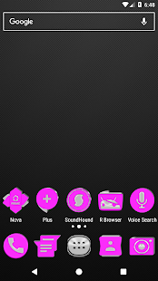 Bright Pink Icon Pack v2.0 - náhled