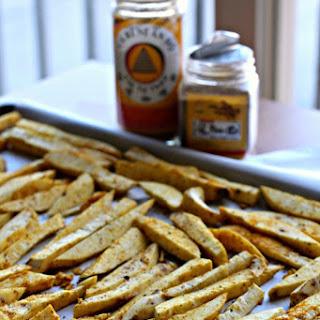 Szechuan, Curry Spiced Sweet Potato Fries w/ Mango Chili Sauce (Oil-Free, Vegan, GF, Sugar-free)