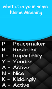 Download My Name Meaning what is in your name, Name fact For PC Windows and Mac apk screenshot 1