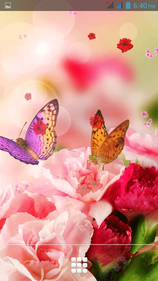 Pink Flowers Wallpaper Live Screenshot