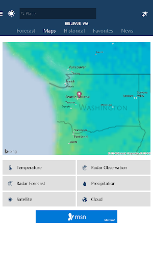 MSN Weather - Forecast & Maps 1.2.0 screenshots 11