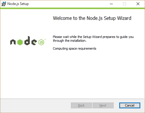 node installer compute required space