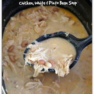 Slow Cooker Chicken, White Bean and Pinto Bean Soup Recipe