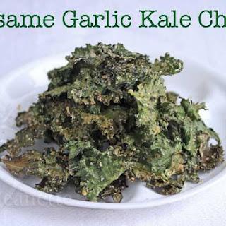 Sesame Garlic Kale Chips