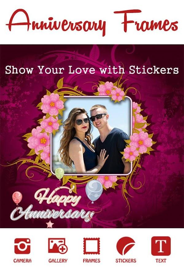 anniversary photo frame screenshot