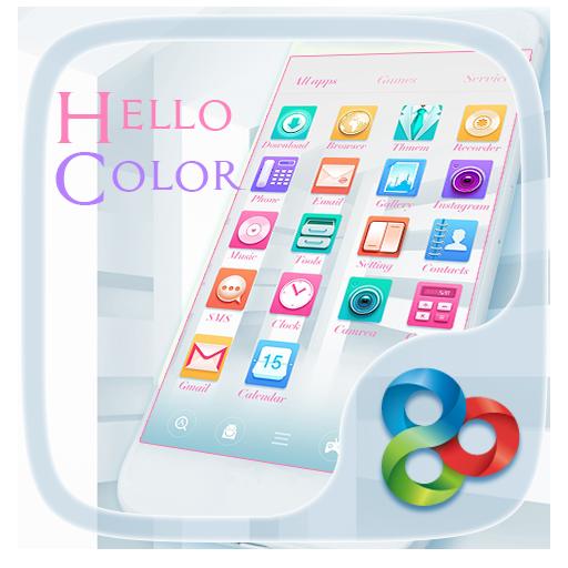 Hello color Go Launcher Theme