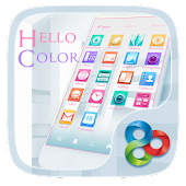 Hello color Go Launcher Theme