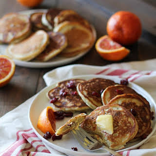 Gluten-Free Cranberry Orange Pancakes.