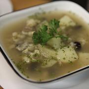 Corn Soup with Pork (white corn) lg c/w bannock