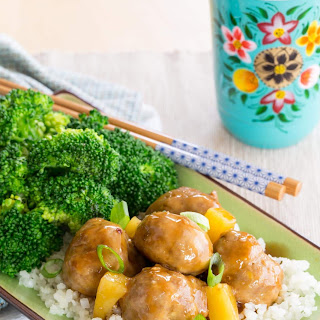Pineapple Teriyaki Turkey Meatballs.